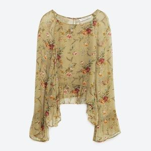 🍃ZARA FLORAL BLOUSE PREMIUM DEMIN COLLECTION🍃
